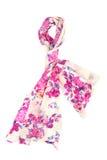 Ljus halsduk med blom- design Arkivfoto