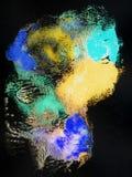 Ljus handdrawn vattenfärgbakgrundstextur Royaltyfria Bilder