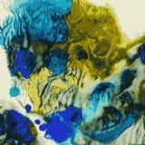 Ljus handdrawn vattenfärgbakgrundstextur Royaltyfri Bild