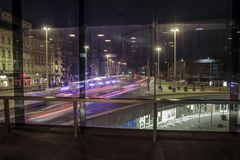 Ljus hastighet utöver fönstret royaltyfria foton