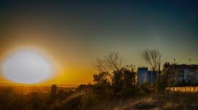 Ljus himmel för solnedgång Arkivfoton