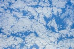 Ljus himmel i morgonen Känner sig nytt och rent Arkivfoton