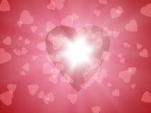 ljus hjärta Arkivfoto