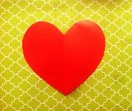 Ljus hjärta på färgrik bakgrund Fotografering för Bildbyråer