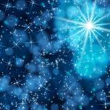 Ljus i effekt för kosmosbakgrundsbokeh. Arkivfoton