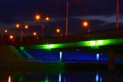 Ljus i midlen av natten Arkivfoto