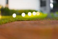 Ljus i natten från golvet Royaltyfria Foton