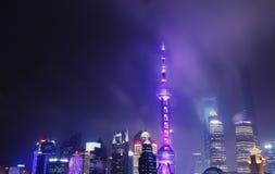 Ljus i Shanghai Arkivbilder