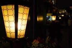 Ljus i staden på natten Arkivbilder