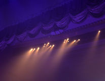 Ljus i teatern Royaltyfria Bilder