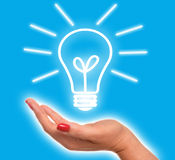 Ljus idé Fotografering för Bildbyråer