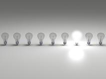 Ljus idé stock illustrationer