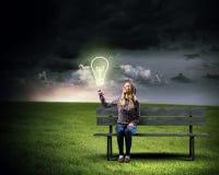 ljus idé Arkivfoton