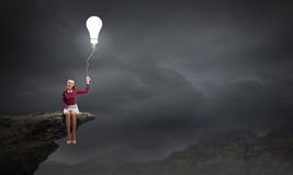 ljus idé Arkivfoto