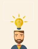 Ljus idé av mannen Royaltyfria Foton