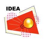 Ljus idé för banervektoraffär med lampan royaltyfria bilder