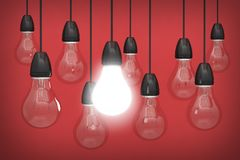 ljus idérik idékulainnovation Royaltyfri Fotografi