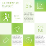 Ljus infographic mall Royaltyfria Bilder