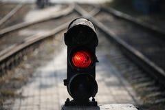 ljus järnväg signalering royaltyfri foto