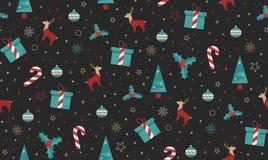Ljus jul kastar för tyg stock illustrationer