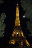 Ljus kapacitetsshow för Eiffeltorn Fotografering för Bildbyråer