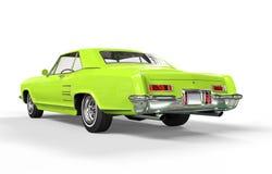 Ljus klassisk bil - grön bakre sikt Royaltyfria Foton