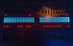 Ljus kontrollkonsol royaltyfri foto