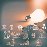 Ljus kula 3d på affärsstrategi royaltyfri illustrationer