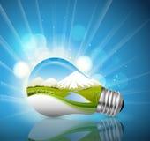 Ljus kula, ekologiskt begrepp Royaltyfri Fotografi