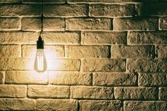 Ljus kula för Edison stil royaltyfri fotografi