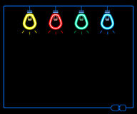 Ljus kula för neon Royaltyfria Bilder