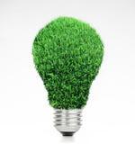 Ljus kula för Retro tappning med grönt gräs överst på vit bakgrund Arkivbild