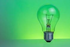 Ljus kula för Retro tappning med på grön bakgrund Fotografering för Bildbyråer