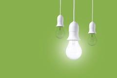 Ljus kula för skillnad på grön bakgrund Begrepp av nya idéer Royaltyfria Bilder