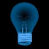 Ljus kula för stråle som x isoleras på svart Royaltyfri Foto