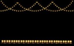 Ljus kula för tappning i den isolerade remsalinjen Arkivfoton