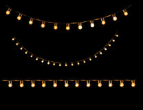 Ljus kula för tappning i den isolerade remsalinjen Royaltyfria Foton