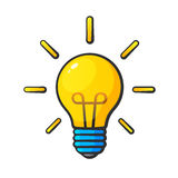 Ljus kula för tecknad film i komisk stil Stock Illustrationer