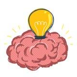 Ljus kula i hjärna Fotografering för Bildbyråer