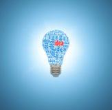 Ljus kula med begrepp av idéer royaltyfri bild