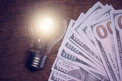 Ljus kula med dollaren Royaltyfri Foto