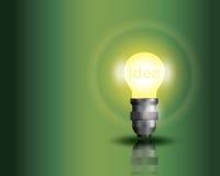Ljus kula på grön bakgrund Fotografering för Bildbyråer