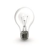 Ljus kula som isoleras på den vita illustrationen 3D Royaltyfri Fotografi