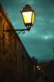 Ljus lampstolpe Arkivbilder