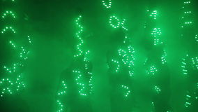 Ljus LEDD show på laser-showen arkivfilmer