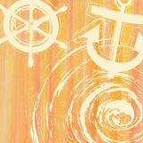 Ljus linje signal för orange guling med lutande linje r för bandrad Arkivbild