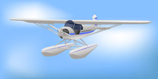 ljus liten white för flygplan Royaltyfria Bilder