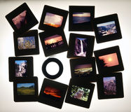 ljus lupe glider tabellen Fotografering för Bildbyråer