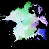 Ljus målad vattenfärgtextur Arkivbild
