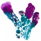 Ljus målad vattenfärgtextur Royaltyfri Foto
